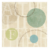 Circle of Words Print by Veronique Charron