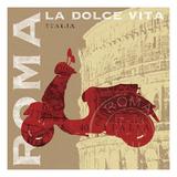 Motoring in Rome Premium Giclee Print by Sue Schlabach