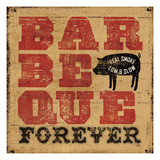 Barbeque Forever Giclee Print by Pela Studio