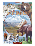 Fairbanks, Alaska - Wildlife Montage Scenes Posters by  Lantern Press