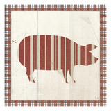 Americana Pig Prints by Sarah Adams