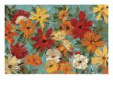 Bright Expressive Garden Premium Giclee Print by Silvia Vassileva