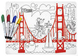 Fun On The Golden Gate Color Me Placemat Set Craft Supplies