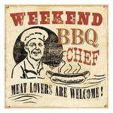 Weekend BBQ Chef Reproduction procédé giclée par  Pela