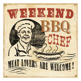Weekend BBQ Chef Giclee Print by  Pela