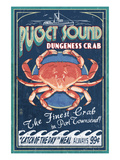 Port Townsend, Washington - Dungeness Crab Poster by Lantern Press