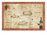 Wine Map Reproduction giclée Premium par Daphne Brissonnet