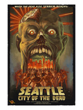 Seattle Zombies - City of the Dead Posters by Lantern Press