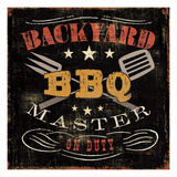 Backyard BBQ Giclee Print by Pela Studio