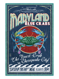 Chesapeake City, Maryland - Blue Crab Posters by  Lantern Press