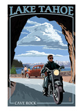 Lake Tahoe, California - Motorcycle Scene Posters by Lantern Press