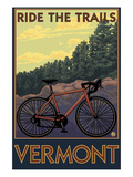 Vermont - Bicycle Scene Pósters por  Lantern Press