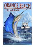 Orange Beach, Alabama - Sailfish Scene Prints by  Lantern Press