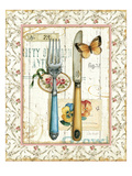 Rose Garden Utensils I Premium Giclee Print by Lisa Audit
