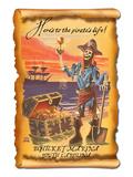 Bohicket Marina, South Carolina - Pirate Plunder Art by  Lantern Press