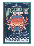 Winchester Bay, Oregon - Dungeness Crab Plakater af  Lantern Press
