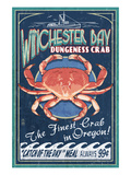 Winchester Bay, Oregon - Dungeness Crab Prints by  Lantern Press