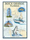 Boca Grande, Florida - Nautical Chart Kunst von  Lantern Press