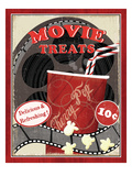 At the Movies II Premium Giclee Print by Veronique Charron