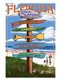 Boca Grande, Florida - Sign Destinations Prints by  Lantern Press
