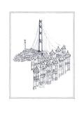Golden Gate Premium Giclee Print by Avery Tillmon