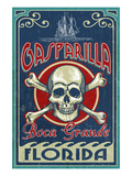 Boca Grande, Florida - Gasparilla Skull and Crossbones Prints by Lantern Press 