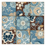 Patchwork Motif Blue Poster by  Pela