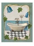 Bell Flower Bath I on Ivory Premium Giclee Print by Silvia Vassileva