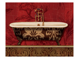 Royal Red Bath I Premium Giclee Print by Lisa Audit