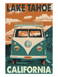 Lake Tahoe, California - VW Van Posters by  Lantern Press