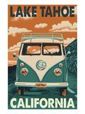 Lake Tahoe, California - VW Van Posters by  Lantern Press