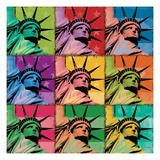 Pop Liberty Premium Giclee Print by Ben Richard