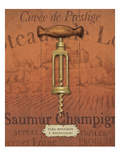 Antique Corkscrew II Red Premium Giclee Print by Daphne Brissonnet
