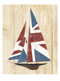 British Flag Sailboat Giclee Print by Avery Tillmon