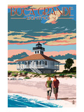 Boca Grande, Florida - Lighthouse Poster by  Lantern Press