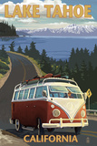 Lake Tahoe, California - VW Coastal Drive Prints by  Lantern Press