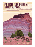 Painted Desert - Petrified Forest National Park Print by Lantern Press 