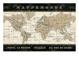Mappemonde Premium Giclee Print by  Pela