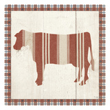 Americana Cow Print by Sarah Adams