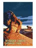 Desert at Dusk - Petrified Forest National Park Poster by Lantern Press 