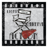 Lights Camera Action Giclee Print by Hugo Wild