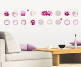 Crazy Cats Wall Decal by  Studio Breitbach