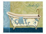Blue Botanical Bath I Giclee Print by Lisa Audit