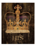 His Majesty&#39;s Crown with word Giclee Print by Avery Tillmon