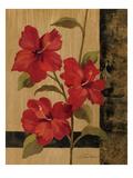 Hibiscus Branch II Print by Silvia Vassileva