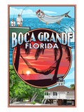 Boca Grande, Florida - Montage Prints by  Lantern Press