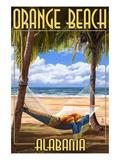Orange Beach, Alabama - Hammock Scene Kunstdrucke von  Lantern Press