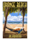 Orange Beach, Alabama - Hammock Scene Prints by  Lantern Press