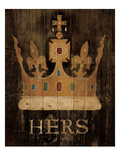 Her Majesty's Crown with word Giclee Print by Avery Tillmon
