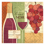 Wine and Grapes I Prints by Veronique Charron